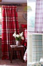 Catherine Lansfield Tartan Rideau plissé prêt à l'em Ploi entièrement doublés