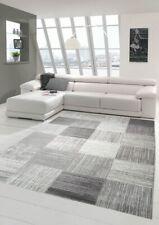 Tapis de salon design et moquette moderne à carreaux beige gris