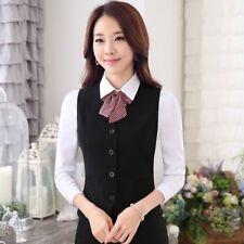 Damen Anzug Weste ärmellos formelle ARBEIT BAR Kellnerin Weste Mantel Uniform