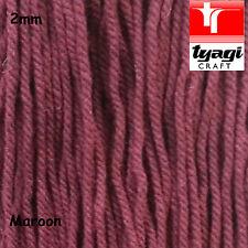 2mm Thick ritorto filo marrone cotone naturale stringa FUNE CORDA Artigianato cucire fai da te