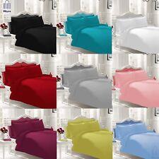 Plain Duvet Cover Bedding Set Single Double King Including Pillow Cases