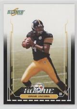 2006 Score Black #379 Omar Jacobs Pittsburgh Steelers Rookie Football Card