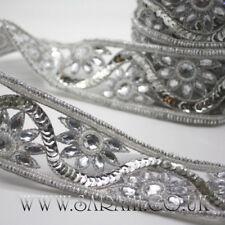 Argento strass rifilatura, bordi, tagliare, Paillettes, perline, Abbellimento, Pietre