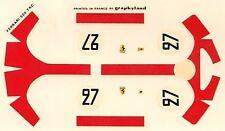 decals 1/43: Ferrari 500 TRC Le Mans 1957 N°27