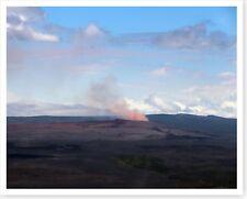 Kilauea Volcano Pu'u 'O'o Cone Plume Hawaii 2018 Silver Halide Photo