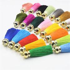 10pcs Elegant Artificial Silk Tassel Trim Fringe Charm Keyring DIY Decor Making