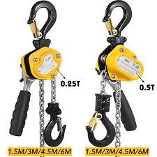 0.25T 0.5T Mini Manual Lever Block Chain Hoist Shipping Posts w/ Brake Great