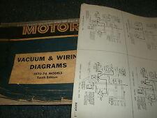 1970 - 1974 OLDSMOBILE CUTLASS AND 442 WIRING DIAGRAMS MANUAL SHEETS SET