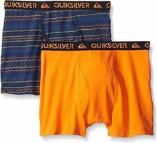 Quiksilver Boys Orange & Blue Print 2pk Boxer Briefs Size 4/5 6/7 $18
