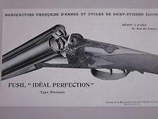 COMPOSITION  20ème FUSIL IDEAL PERFECTION  MANUFACTURE ARMES  CYCLES ST ETIENNE
