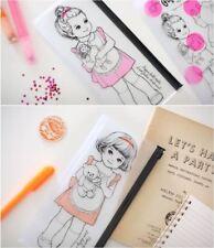 Lovey Doll PVC Pencil / Pen Case Pouch Bag Comestic Tool Travel Storage Holder