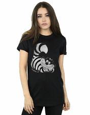 Disney Women's Alice In Wonderland Mono Cheshire Cat Boyfriend Fit T-Shirt