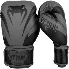 Venum Impact Hook and Loop Training Boxing Gloves - Gray/Black
