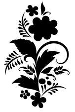 Sticker Fleur 30x19cm à 48x30cm, Tailles et Coloris Divers (FLEUR014)