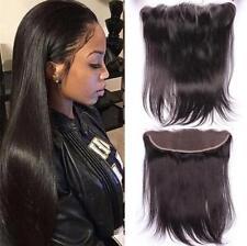 13x2 Peruvian Straight Full Lace Frontal Closure 7A Virgin Human Hair Ear To Ear