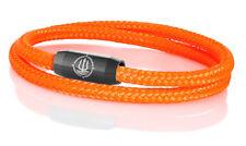 "Marinera _ maritimes segeltau pulsera ""Norderney"" Neon-Orange 4mm"