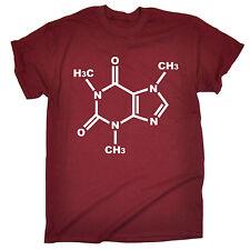 Struttura chimica genetica caffeina T-shirt la scienza del Caffè Compleanno Regalo Moda