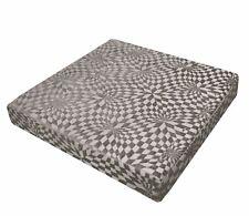 wg05t Gray Geometric Check 3D Box Shape Sofa Seat Pad Cushion Cover*Cust Size