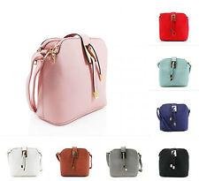 Girls Ladies Twin Tassle Cross Body Bag Tripple Compartment Women Shoulder Bags