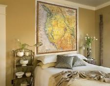 Old Map California, California Map Vintage, Western Decor, Gold Rush, California