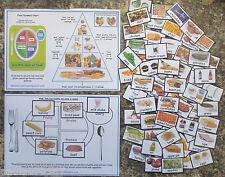 Elección de alimentos ~ ~ promover una alimentación saludable todo color 75 Tarjetas Flash & Junta & Pirámide