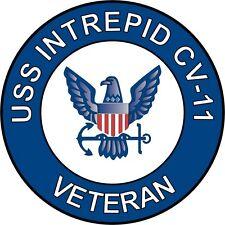 "USS Intrepid CV-11 Veteran 5.5"" Sticker / Decal"