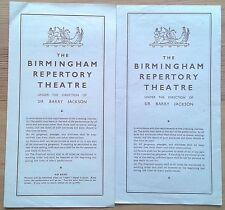 Individual/Single Birmingham Repertory REP Theatre programmes 1940s, programme