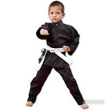 NEW Proforce Lightweight Karate Uniform Gi BLACK with White Belt ADULT or CHILD