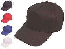 Kids Baseball Cap 5 Panel Cotton Summer Sun Hat One Size Adjustable