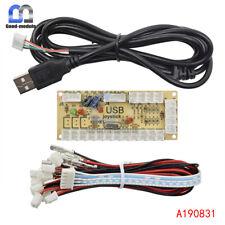Zero Delay LED Arcade MAME Encoder USB To PC 5Pin Joystick PCB Board+Cables
