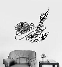 Wall Vinyl Sticker Decal Motorcycle Bike Biker Fire Engine Decor Garage (ed486)