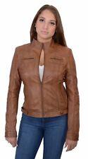 Ladies Lightweight Lambskin Leather Jacket W/ Rivets  - SFL2800