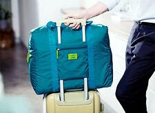 Holdall Travel Shopping Large Volume Folding Boarding Bag Zipper Carry Handles