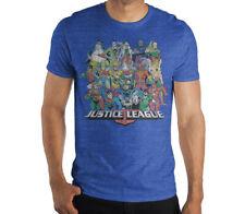 Justice League Shirt Distressed Tee Vintage Look Batman Superman Size Medium-XL
