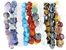 Gemstone Tumblestone Bracelets, Rose Quartz, Amethyst, Hematite, Sodalite,