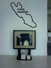 Wandtattoo Insel Murter, Kroatien, aus Wandfolie  geschnitten, wallart
