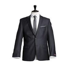 atelier torino Business Sakko Prestige Dunkelgrau Uni Classic Fit 100%Schurwolle