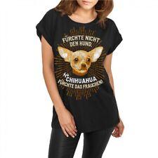 Frauen Mädchen Damen lässiges Shirt Chihuahua hunde dogs haustier zucht welpen