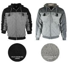 Original Deluxe Men's Sherpa Lined Pocket Front Zip Up Hoodie
