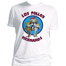 Breaking Bad OFFICIAL Los Pollos Hermanos Heisenberg Gus Jesse White T-Shirt 15C