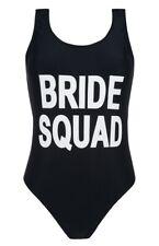 Sposa Squad Nero Swim Suit Costume Da Bagno nubilato matrimonio UK 8-20 Primark