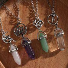 Chakra Turquoise Quartz Pendant Necklace Healing Stone Natural Crystal Pendant