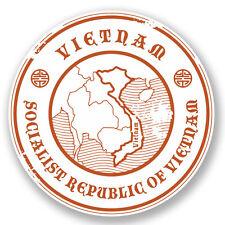 2 x 10cm Vietnam Vinyl Sticker Decal Laptop Car Bike Luggage Travel Flag #5966