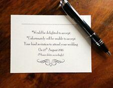 Personalised Wedding RSVP cards