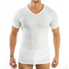 HERMKO 4880 4er Pack Herren Business kurzarm Unterhemd mit V-Ausschnitt Shirt
