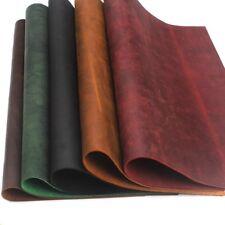 UK Genuine Leather Fabric Cowhide Wallet Pocket Bag Notebook Making DIY Vintage