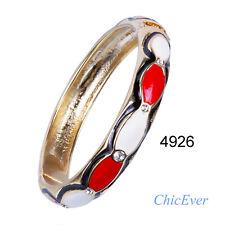 Armreif, Armreifen, Armband, Armkette, Cloisonne Emaille, schwarz rot weiß,4926$