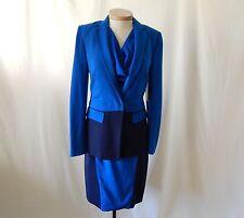 ETCETERA TRI-COLOR BLUE CONVERTIBLE JACKET 2pc DRESS SUIT sz 0 2 4 6 8  NEW $620
