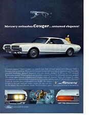 1967 MERCURY COUGAR 289 V-8  ~  NICE ORIGINAL PRINT AD