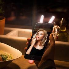 iPhone Selfie LED Doppel Licht Lampe mit 10 LEDs Light Zusatzlicht Handy Foto